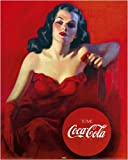 LAMINATED Coca Cola Lady Red Dress Advertising Drink 20