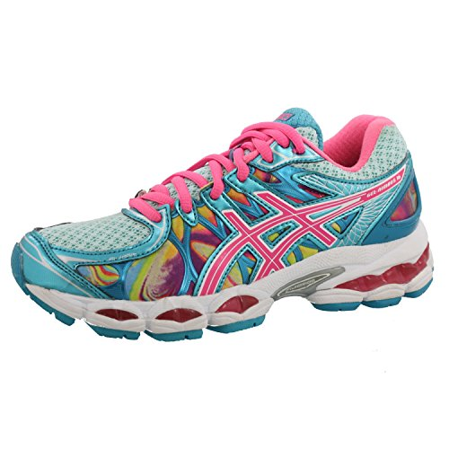 ASICS Women's GEL-Nimbus 16 Running Shoe (6 B(M) US, Iridescent/Pink/Blue)