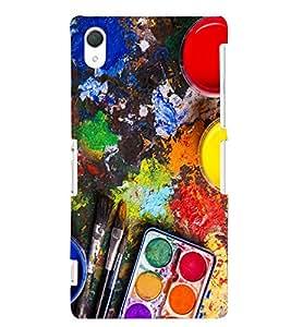 Kingcase Printed Back Case Cover For Sony Xperia Z3 - Multicolor