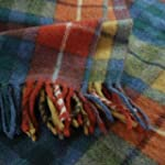 Antique Buchanan Tartan Wool Blanket...