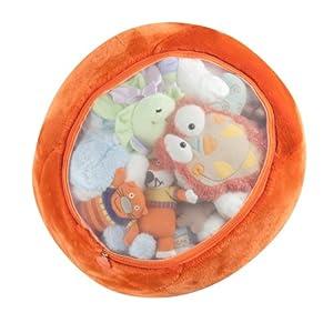 Boon Animal Bag Stuffed Animal Storage,Orange