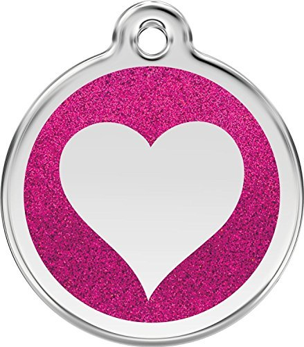 red-dingo-glitter-heart-dog-id-tag-hot-pink-small
