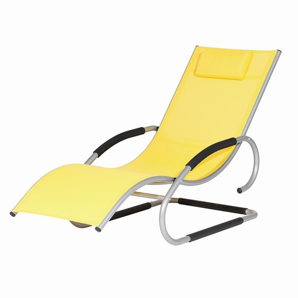 Siena Garden 268143 Swingliege Adria Aluminium-Gestell silber Ranotex®-Gewebe 2*1 gelb Armlehnen gepolstert, mit Kopfteil