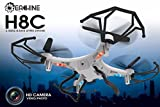 Eachine H8C Qudcopter With 2.0MP HD Camera 2.4G 6-Axis Headless Mode RC Quadcopter Drone RTF Mode 2 (White)