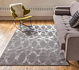 Delilah Grey Moroccan Lattice Vintage Modern Casual Traditional Trellis 5x7 ( 5\' x 7\'2\'\' ) Area Rug Thick Soft Plush Shed Free