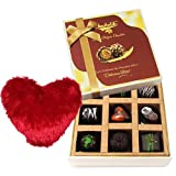 Sweet Admirer Of Love Chocolates With Heart Pillow - Chocholik Luxury Chocolates