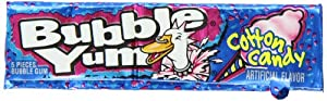Bubble Yum Gum, Cotton Candy, 5-Piece Packages (Pack of 36)