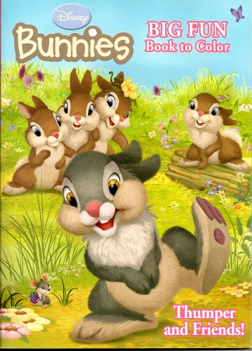 Disney Bunnies Big Fun Book to Color ~ Thumper and Friends (96 Pages) - 1