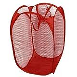 sourcingmap® Wäschenetz Für Schmutzige Wäsche Faltbarer Wäschekorb Rot