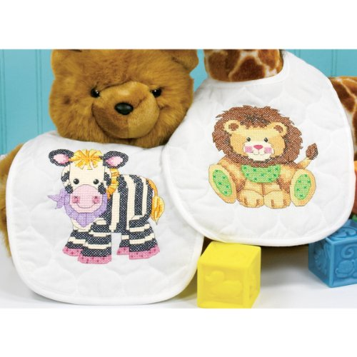 Dimensions Needlecrafts Stamped Cross Stitch, Baby Express Bibs front-212817