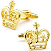 Gold British Crown Cufflinks-CL-CH-151124