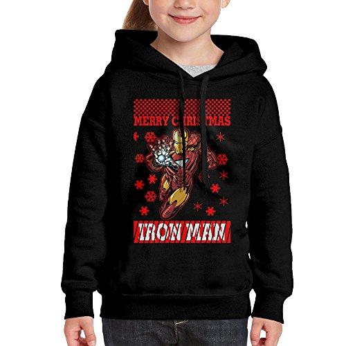 Christmas Iron Man Hoodie Youth