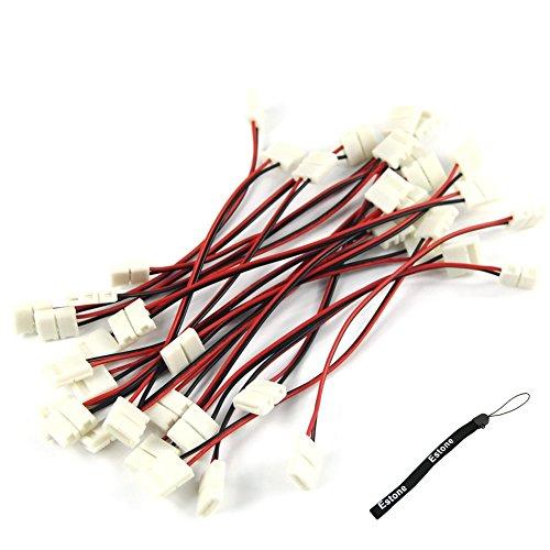 HeroNeo® - 10 Cavi adattatori connettori LED PCB per striscia a LED 3528, senza saldatura 8 mm