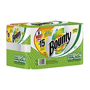 Bounty Huge Roll, White, 6 Count