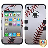 MyBat IPHONE4AVHPCTUFFIM050NP Rugged Hybrid TUFF Case for iPhone 4 - Retail Packaging - Baseball