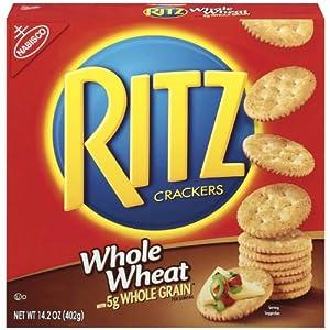 Ritz Whole Wheat crackers, 14.2 oz