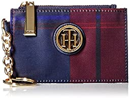 Tommy Hilfiger Signature Nylon Coin Purse, Pinor Noir Multi, One Size