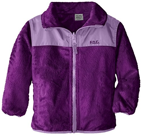 London Fog Baby-Girls Infant Reversible Fleece Jacket, Purple, 24 Months