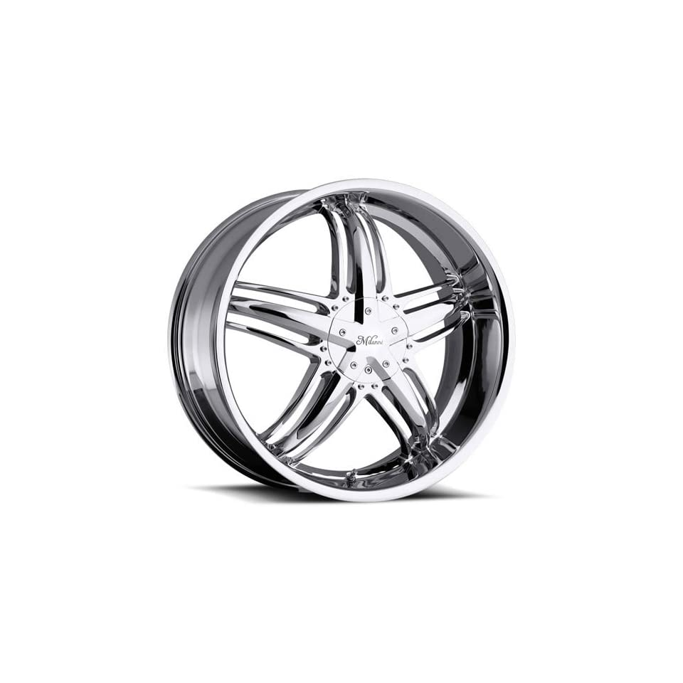 Milanni Force 18 Chrome Wheel / Rim 5x112 & 5x4.5 with a 38mm Offset and a 74.1 Hub Bore. Partnumber 457 8720C38