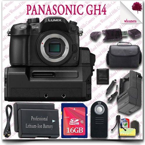 Panasonic Lumix Dmc-Gh4 4K Mirrorless Digital Camera With Interface Unit (Body & Dmc-Yagh) + Wireless Remote + 16Gb Sdhc Class 10 Card + Slr Gadget Bag + Hdmi Cable 13Pc Panasonic Saver Bundle