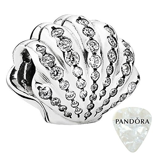 PANDORA Disney, Ariel's Shell Charm 791574CZ, Two Piece Bundle, with Pandora Clasp Opener