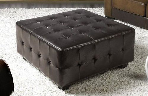 Abbyson Living Tribeca Leather Square Cocktail Ottoman [Misc.] P.Number: LI-HT001-OT