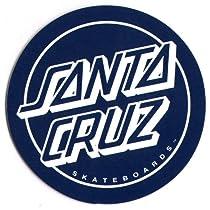 Santa Cruz Classic Blue Logo Skateboard Sticker - skate skating skateboarding