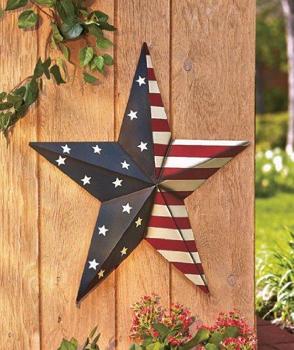 "24"" Americana Star Yard Stake or Wall Hanging Primitive Coun"