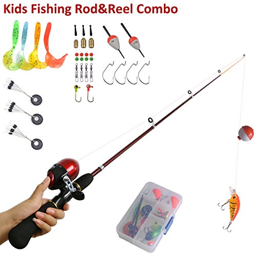Kids fishing rods and reel combo telescopic kids fishing for Kids fishing kit