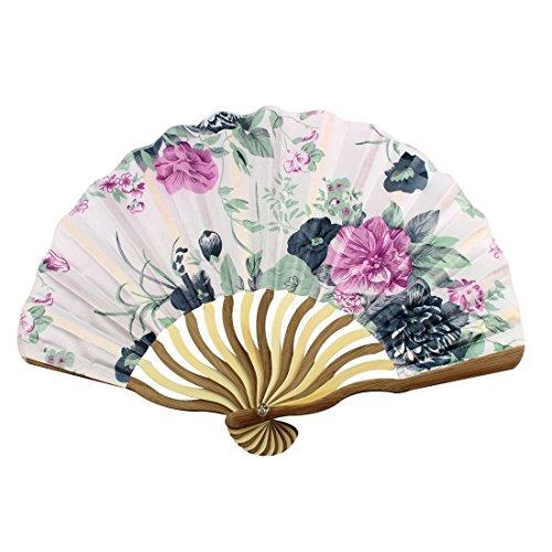 Bamboo Flower Imprimé femmes Pliable main Portable Fan Art Cadeau