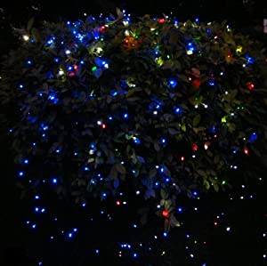 12m 100 LED Solar Neon Light RGB String Lamp Festival Deco