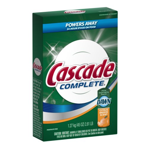 Cascade Complete All-In-1 Powder Dishwasher Detergent, Citru