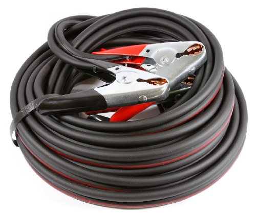 Forney 52873 Twin Cable Battery Jumper Cables, Heavy Duty Number 4, 25-Feet
