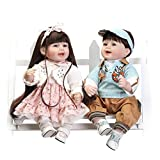 Nicery Lovely Toy Doll High Vinyl 22inch 55cm Lifelike Toy White Coat Blue Hat Cloth Boy And Girl