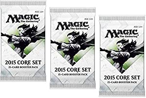 3 X 3 (Three) Packs of Magic: the Gathering - MTG: 2015 Core Set / M15 Booster Pack Lot (3 Packs)