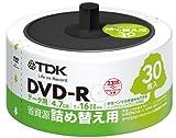 TDK データ用DVD-R 省資源 詰め替え用 30枚入り リフィルパック 4.7GB 16X インクジェットプリンタ対応(ホワイト・ワイド) DR47PWC30RF