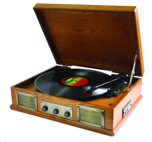 Steepletone USB Norwich Retro Record Player with Radio and MP3 Playback - Lightwood Black Friday & Cyber Monday 2014