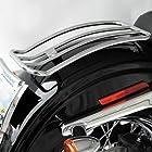 Motherwell Chrome Solo Luggage Racks for Harley Davidson 2006-2008 FXD Models