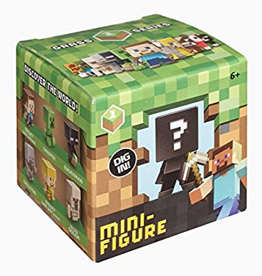 3-pack Minecraft Collectible Mini-figure Mystery Blind Box Grass Series 1 from Mattel
