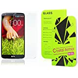 LG G2 Screen Protector, Crystal Armor 0.33mm Tempered Glass Crystal Clear | Slim | Anti Finger Print | Scratch Proof and Light weight Screen Protector for LG G2