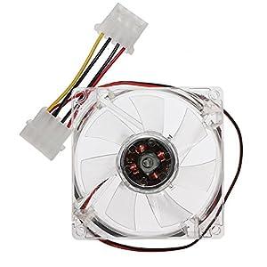 CPU Refoidisseur ventilateur PC Ordinateur Neon LED 80x80x25mm 4Pins COOLING FAN