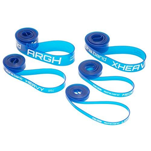 alphabands-Widerstandsband-in-5-Strken-funktionelles-Fitness-Band-fr-Pilates-Yoga-und-Freeletics-hochwertiges-Polyurethan-in-blau