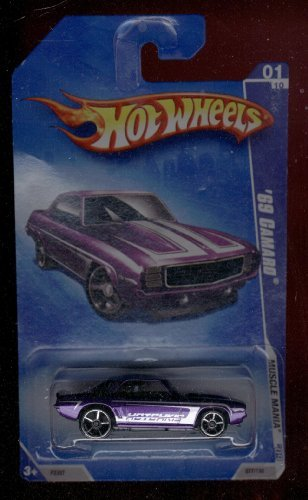 Hot Wheels 2009-01/10 '69 Camaro 077/190 Muscle Mania 1:64 Scale