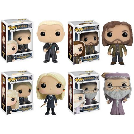 Funko Harry Potter POP! Movies Collectors Set: Draco Malfoy, Sirius Black, Luna Lovegood and Dumbledore Vinyl Figures