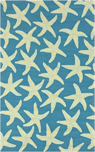 5-x-8-Starfish-Delight-Light-Green-and-Teal-Hand-Hooked-Outdoor-Patio-Area-Throw-Rug