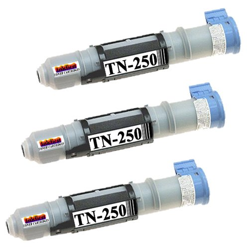 3 Toner Cartridges TN-250 (TN250) Compatible Remanufactured for Brother TN-250 Black