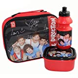One Direction One Direction Red 3 Piece Lunch Set - Lunch Bag Bottle and Sandwich Box Set of 3