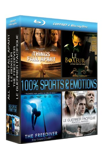 coffret 4 blu-ray 100% sports & émotions : all things fall apart / le boxeur / the freediver / le guerrier pacifique [Blu-ray]