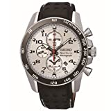 Seiko Sportura SNAF35P1 42mm Stainless Steel Case Black Calfskin Anti-Reflective Sapphire Men's Watch thumbnail