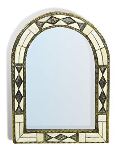 arch-miroir-marocain-avec-insert-metallique-de-diamants-blanc-h50-w35-cm
